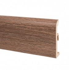 Плинтус ПВХ Korner Ultima 80 013 Дуб Verden коричневый 2500х80х19 мм