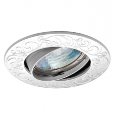Светильник точечный встраиваемый Italmac Olympia 51 1 07 MR16 поворотный серебро 50 Вт