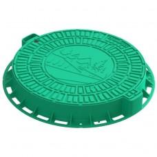 Люк садовый Standartpark Домик Л-60.80.10-ПП пластиковый зеленый