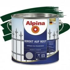 Alpina Direkt auf Rost гладкая RAL 6005 зеленая 0,75 л