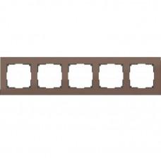 Рамка пятиместная Werkel Aluminium WL11-Frame-05 коричневый алюминий