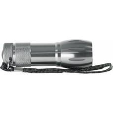 Фонарь ручной светодиодный, 9LED, 3хААА, металл