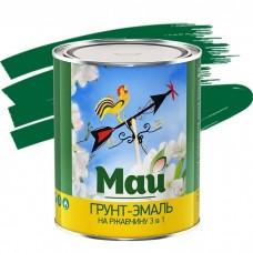 Грунт-эмаль по ржавчине Май 3 в 1 зеленая 1,9 кг