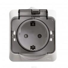 Розетка Schneider Electric Этюд PA16-044B IP44 одноместная белая