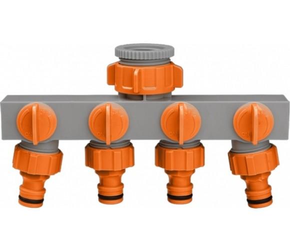 Адаптер-разветвитель на 4 выхода с внутренней резьбой на 1'', 1/2'', 3/4''