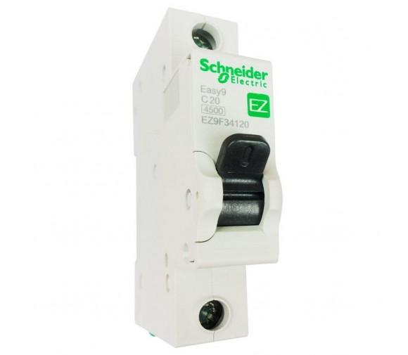 Автоматический выключатель Schneider Electric EASY 9 1П C 20А 4,5кА