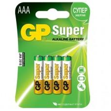 Батарейка алкалиновая GP Batteries Super Alkaline 24А ААA 4 шт.