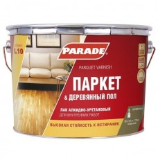 Лак алкидно-уретановый Parade Classic L10 Паркет & Деревянный пол паркетный глянцевый 10 л