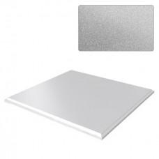 Потолок кассетный Cesal Standart Tegular K90 Металлик серебристый 3313 595х595 мм
