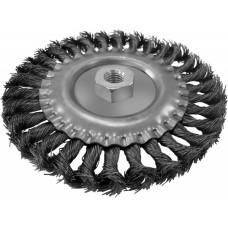 Щетка-крацовка Плоская 150мм/M14, стальная скрученная проволока, Pobedit