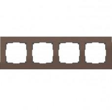 Рамка четырехместная Werkel Aluminium WL11-Frame-04 коричневый алюминий