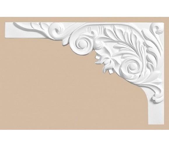 Декоративное дополнение из полиуретана Decomaster 66203L для оформления ступеней