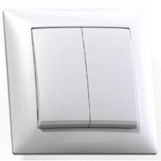 Выключатель Кунцево-Электро Селена С510-379 двухклавишный белый