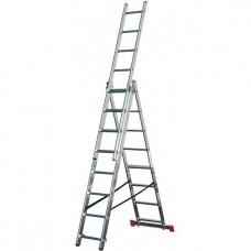 Лестница трехсекционная алюминиевая Krause Corda 010407 3х10