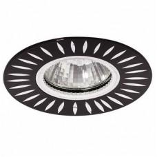 Светильник точечный встраиваемый Italmac Stella 51 3 02 MR16 черный с хромом 50 Вт