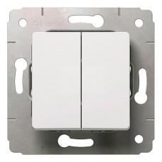 Механизм выключателя Legrand Cariva 773658 двухклавишный белый