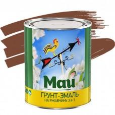 Грунт-эмаль по ржавчине Май 3 в 1 коричневая 1,9 кг
