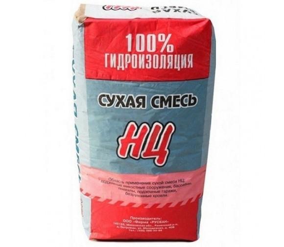Сухая смесь Русеан НЦ для гидроизоляции 25 кг