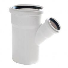 Тройник канализационный RAU-PP Rehau Raupiano Plus 110х50х110 мм 45 градусов белый