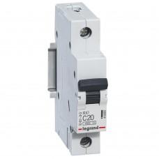 Автоматический выключатель Legrand RX3 419665 1P C 20A 4,5 кА