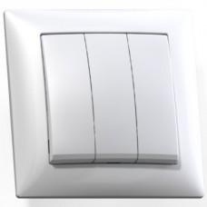 Выключатель Кунцево-Электро Селена С0510-406 трехклавишный белый