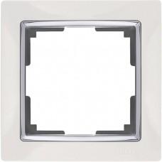 Рамка одноместная Werkel Snabb WL03-Frame-01-white белая