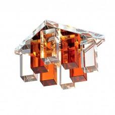 Светильник встраиваемый Novotech Caramel 2 369368 хром/прозрачно-янтарный IP20 G9 40W 220V