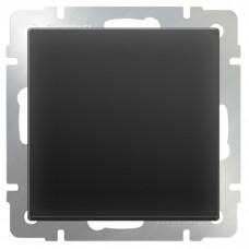 Механизм выключателя Werkel WL08-SW-1G одноклавишный черный матовый