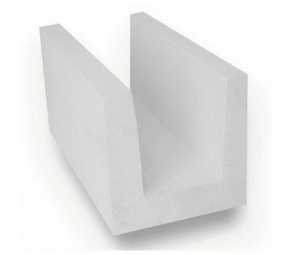 U-образный блок из ячеистого бетона Ytong D500 B 3,5 500х250х200 мм