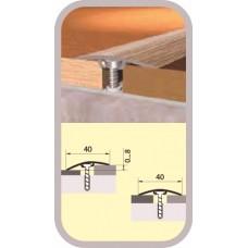 Порог-стык с дюбелем 40х900 мм темный орех