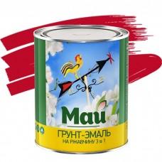Грунт-эмаль по ржавчине Май 3 в 1 красная 1,9 кг