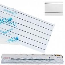 Cesal S-150 для ванной комнаты 1,7x1,7 м B19 жемчужно-белый с металлической полосой