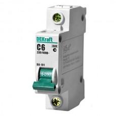 Автоматический выключатель DEKraft ВА-101 1п C 6А 4.5кА