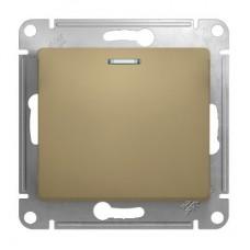 Механизм выключателя Schneider Electric Glossa GSL000413 одноклавишный с индикатором титан