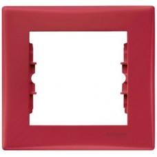 Рамка одноместная Schneider Electric Sedna SDN5800141 красная