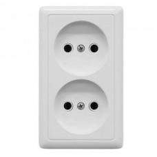 Розетка Schneider Electric Хит RA16-237-B двухместная белая