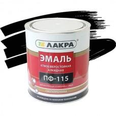 Эмаль Лакра ПФ-115 черная 1,9 кг