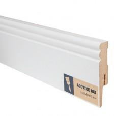 Плинтус МДФ под покраску Arbiton Loctike 103 МР0802 белый 2400х80х15 мм