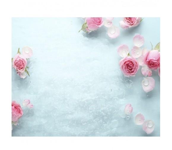 Панель потолочная ПВХ Novita 3D Ледяная роза 2500х250 мм 8 штук