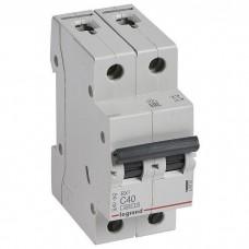 Автоматический выключатель Legrand RX3 419701 2P C 40A 4,5 кА