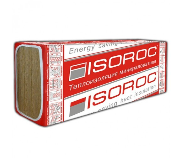 Базальтовая вата Isoroc Ультралайт 1200х600х50 мм 8 плит в упаковке