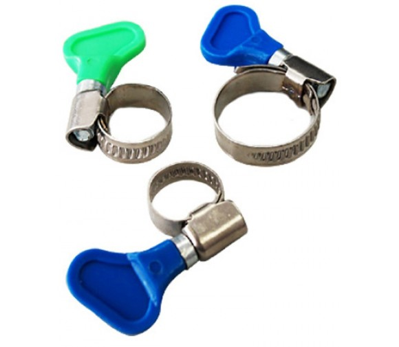 50 шт/уп. Хомуты с ключом, нерж. сталь 40-60 мм