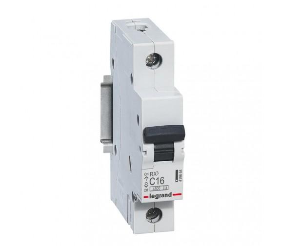 Автоматический выключатель Legrand RX3 419664 1P C 16A 4,5 кА