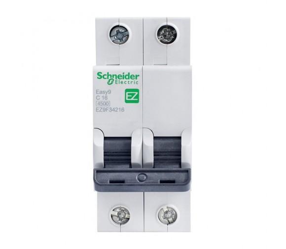 Автоматический выключатель Schneider Electric EASY 9 2П C 16А 4,5кА