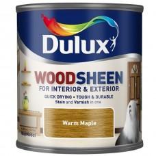 Лак-морилка на водной основе Dulux Woodsheen по дереву полуматовый теплый клен 0,25 л