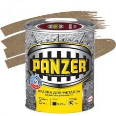 Краска для металла Panzer молотковая золотистая 0,25 л