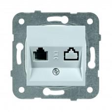 Panasonic Karre Plus WKTT04022SL-RES RJ11 двухместный серебро