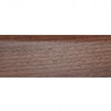 Плинтус шпонированный DL Profiles 018 Орех Светлый 2400х75x16 мм