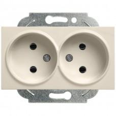 Механизм розетки Panasonic Karre Plus WKTT02042BR-RES двухместный без заземления бронза