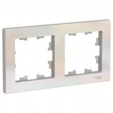 Рамка двухместная Schneider Electric AtlasDesign ATN000402 жемчуг